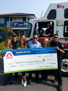 Maple Leaf Self Storage donates to Coquitlam Firefighters