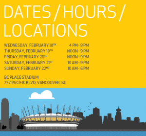 BC Home + Garden Show Dates and Times