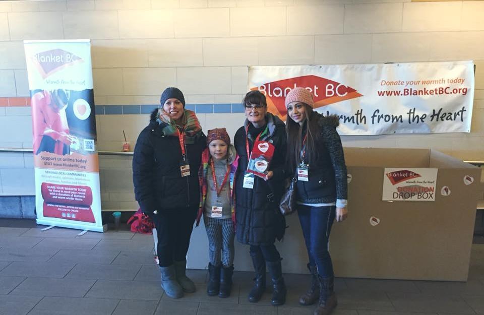 Maple Leaf Ambassadors volunteering Blanket BC