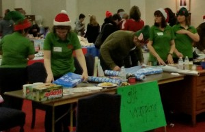 Maple Leaf Ambassadors volunteering Joy of Sharing