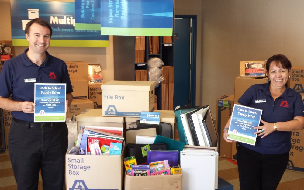 Self Storage West Vancouver School Supply Drive