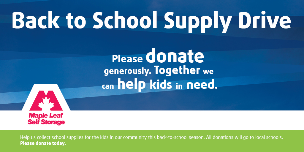 The Maple Leaf School Supply Drive Is Back Maple Leaf