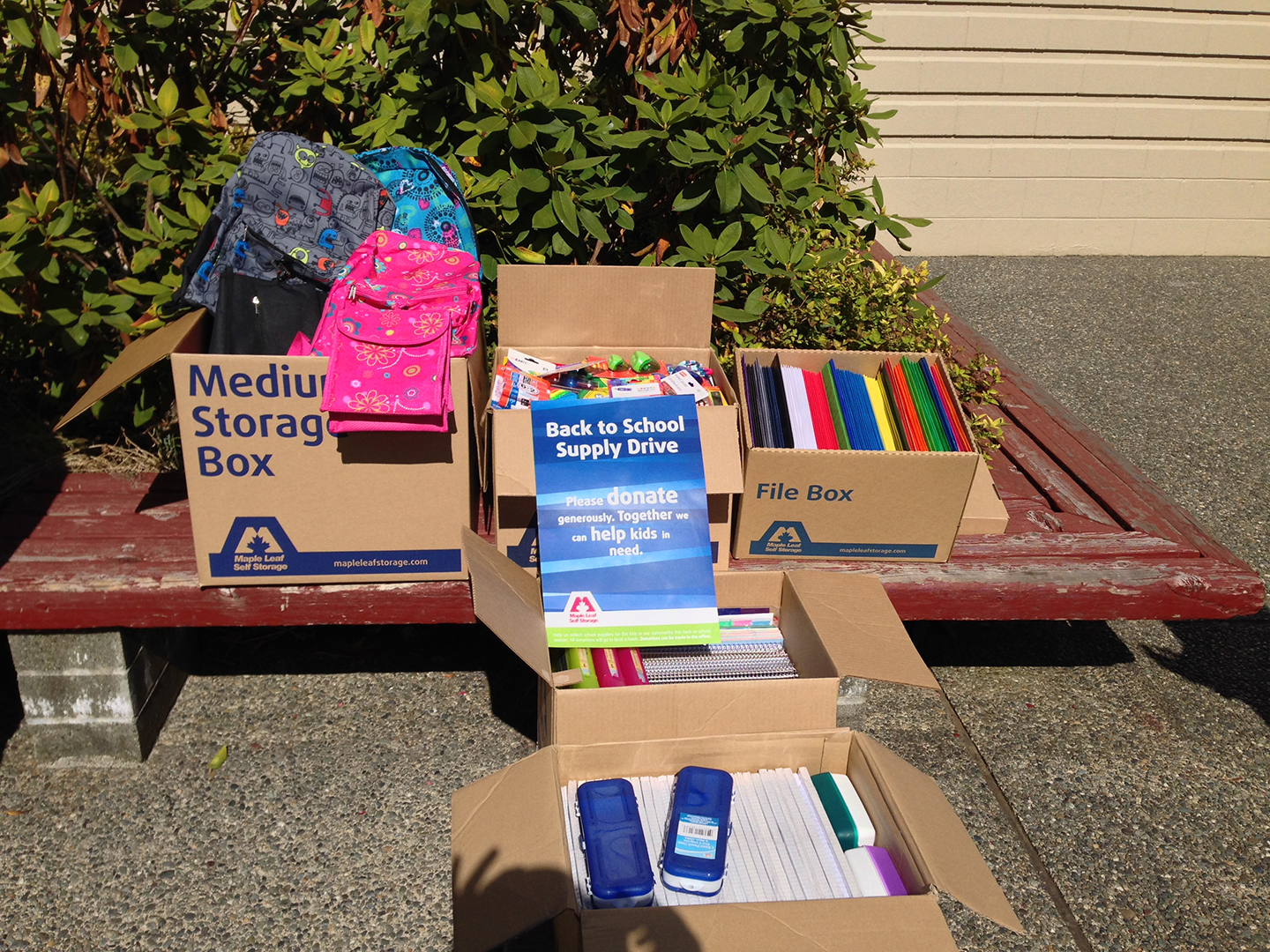 Thank You For Supporting The 2016 Maple Leaf School Supply