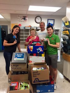 Maple Leaf Self Storage School Supply Drive - Central Elementary School drop off