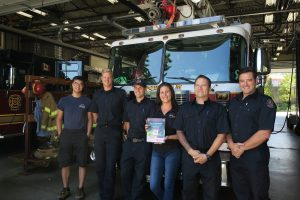 Maple Leaf Self Storage School Supply Drive - Coquitlam Fire Figheters