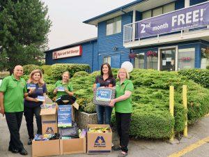 Maple Leaf Self Storage School Supply Drive - Lougheed location staff