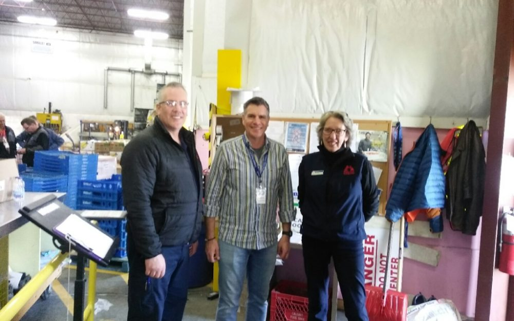 Maple Leaf Self Storage Calgary donated to the Calgary Food Bank